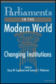 Parliaments in the Modern World: Changing Institutionsby: Copeland, Gary W (Editor) - Product Image