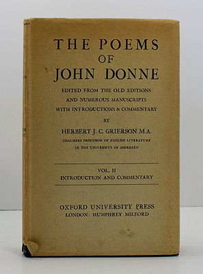 Poems of John Donne, The (Vol. II only of 2 volumes)Grierson, Herbert J.C. - Product Image