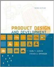 Product Design and Development - Third Editionby: Ulrich, Karl T./Steven D. Eppinger - Product Image