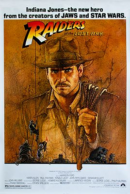 "<p class=""ttl"">Raiders of the Lost Ark (MOVIE POSTER)<p><br />N/A, Illust. by: Richard  Amsel</span>"