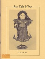 Rare Dolls & Toys - From a Pennsylvania Collection Together with other Fine Items from several New England Collectors - Wednesday, 29, 1986Richard A. Bourne Co., Inc. - Product Image