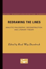 Redrawing the Lines: Analytic Philosophy, Deconstruction, and Literary TheoryDasenbrock, Reed Way - Product Image