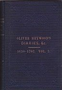 Rev. Oliver Heywood 1630-1702: His Autobiography, Diaries, Anecdote and Event Books - Volume 3Turner (Ed.), J. Horsfall - Product Image