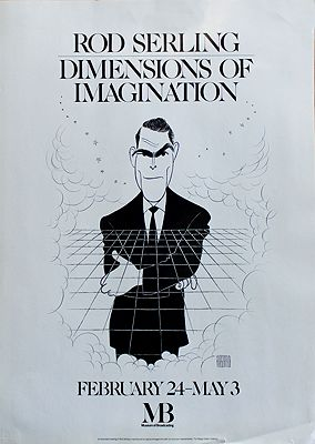 Rod Serling Caricature (Museum of Broadcasting Poster)Hirschfeld, Al, Illust. by: Al  Hirschfeld - Product Image