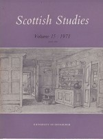 Scottish Studies: Journal of the School of Scottish Studies - Volume 15 1971 (Part 1 and 2)by: MacQueen (Ed.), J. - Product Image