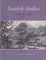 Scottish Studies: Journal of the School of Scottish Studies - Volume 16 (Part 1 and 2)by: MacQueen (Ed.), J. - Product Image