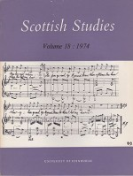 Scottish Studies Volume 18-28 (11 volumes)by: (Various authors) - Product Image