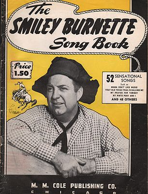 Smiley Burnette Song Book, TheBurnette, Smiley - Product Image