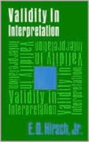 Validity in InterpretationHirsch, Jr., E. D. - Product Image