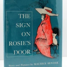 "The sign on Rosie's Door: ""If you want to know a secret, knock three times."" Another charming Sendak."