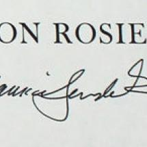Maurice Sendak's signature below The sign on Rosie's Door on title page.