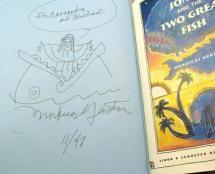 Writer Illustrator Mordicai Gerstein inscribed and drew a picture for two fans.